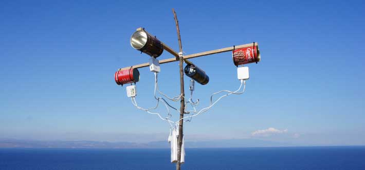Antennas on Lesvos, Greece